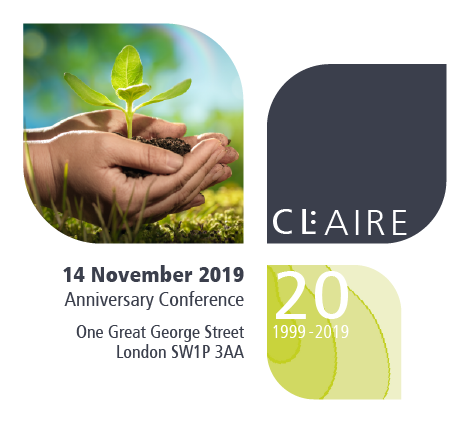 Registration closes Friday 1 November - CL:AIRE's 20th Anniversary Conference